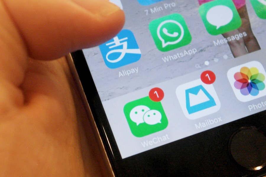 Значки приложений на экране смартфона