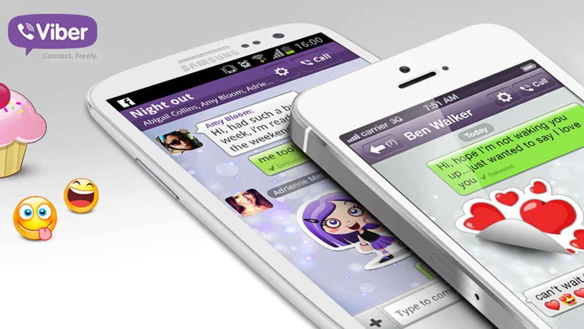 Смартфоны с перепиской Viber