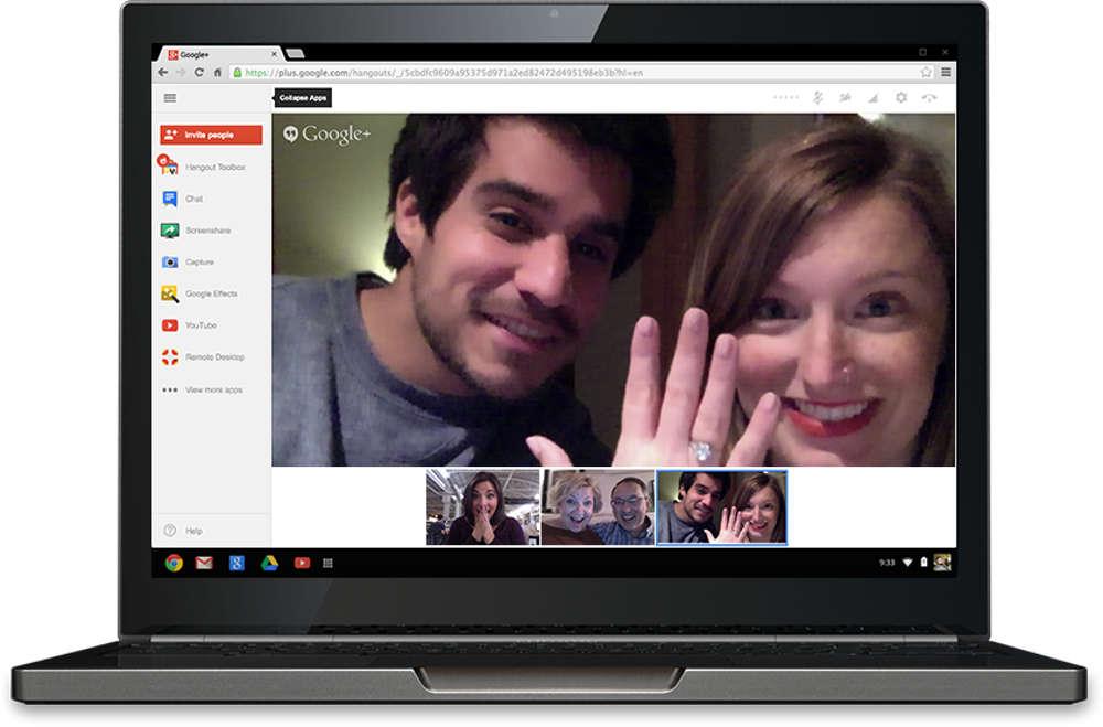 Google Hangouts на компьютере