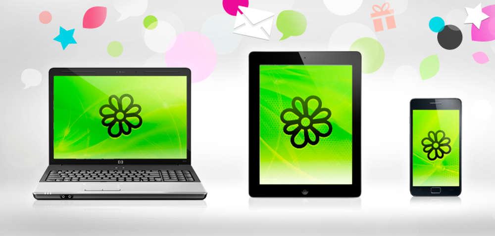 ICQ на разных экранах
