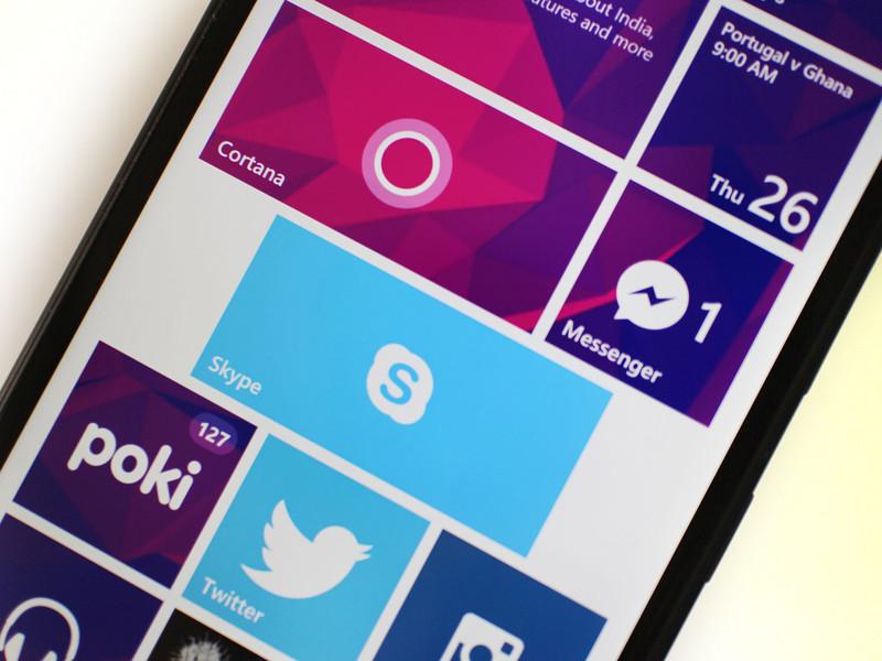 Skype на экране Windows Phone