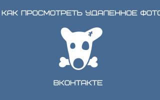 """Способы просмотра удаленных фото """"ВКонтакте"""""""