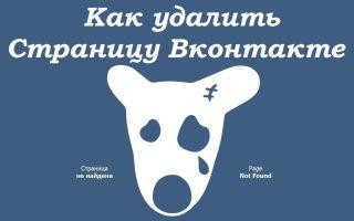 """Простой способ удаления страницы в """"ВКонтакте"""" с телефона"""