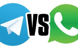 Что лучше Телеграм или WhatsApp?