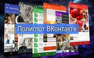 Скачать приложение Полиглот ВК на Андроид и компьютер