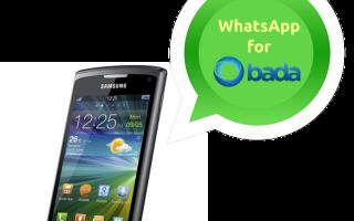 Мессенджер WhatsApp для Bada