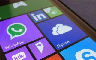 Версия мессенджера WhatsApp для Windows Phone и Nokia