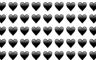 Полное описание смайла черное сердце в ВК