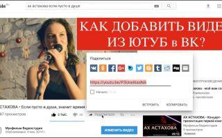 Способы добавить видео с Ютуба в ВК