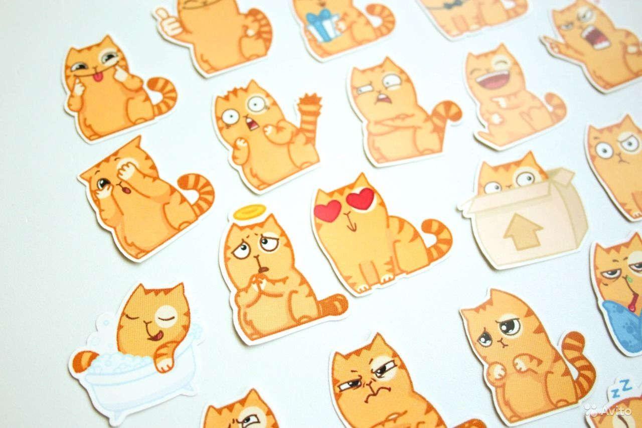 Стикеры с котиками