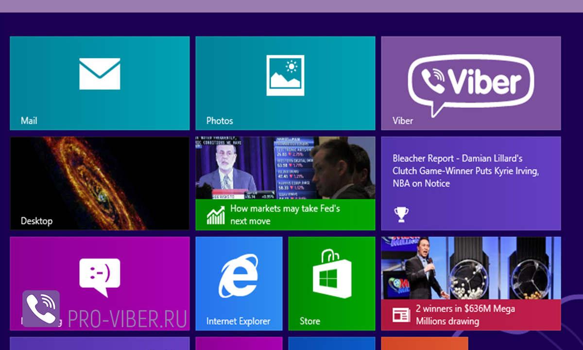 Иконка Viber на экране