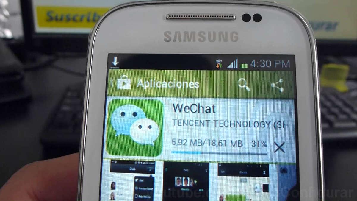 WeChat на экране смартфона