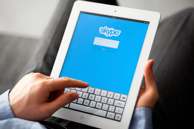 Скайп на планшете