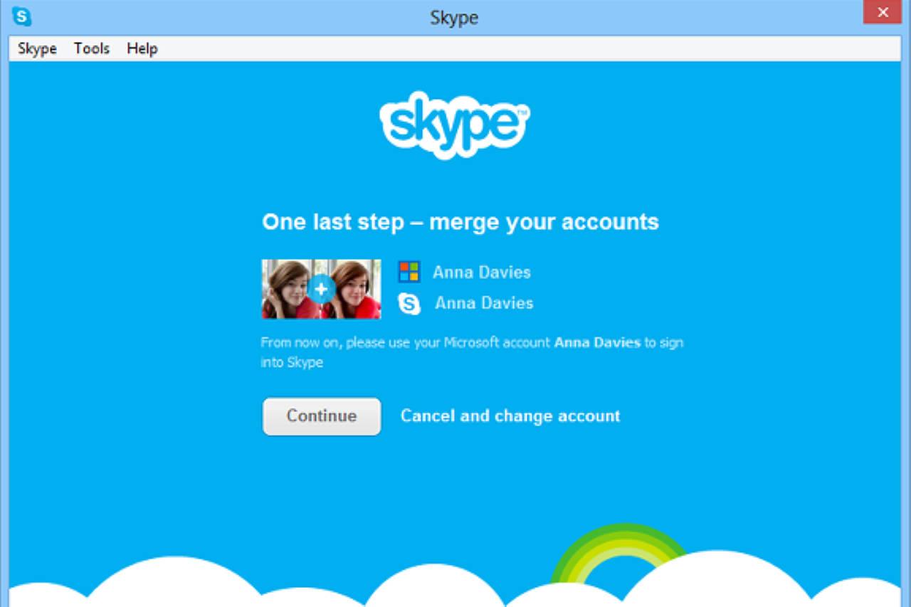 Экран Skype