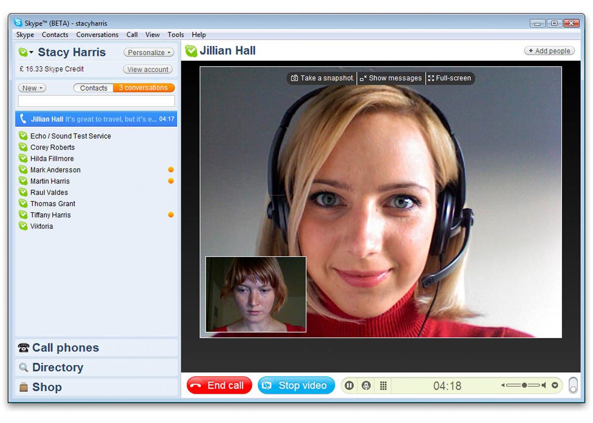 Видеозвонок в Скайпе