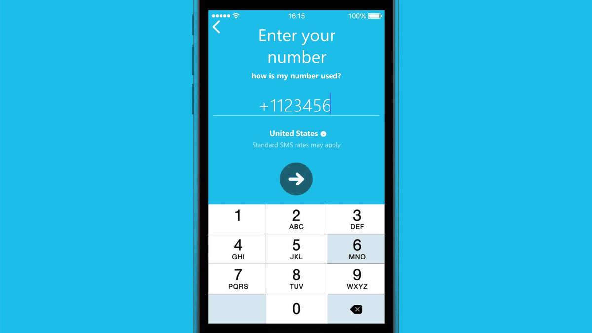 Скайп на экране смартфона