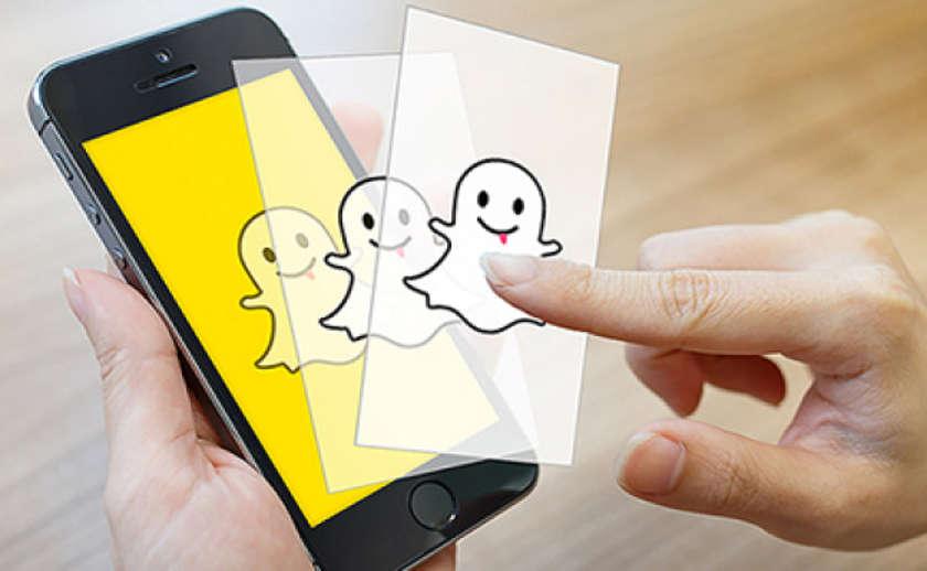 Логотип Snapchat на экране