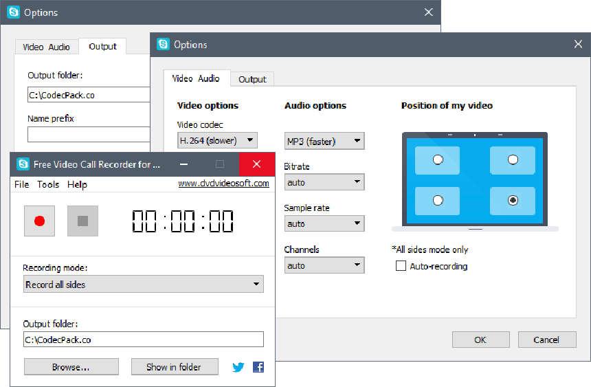 Free Video Call Recorder для Скайпа