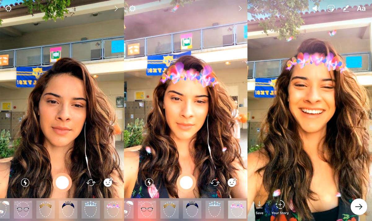 Маски в Snapchat