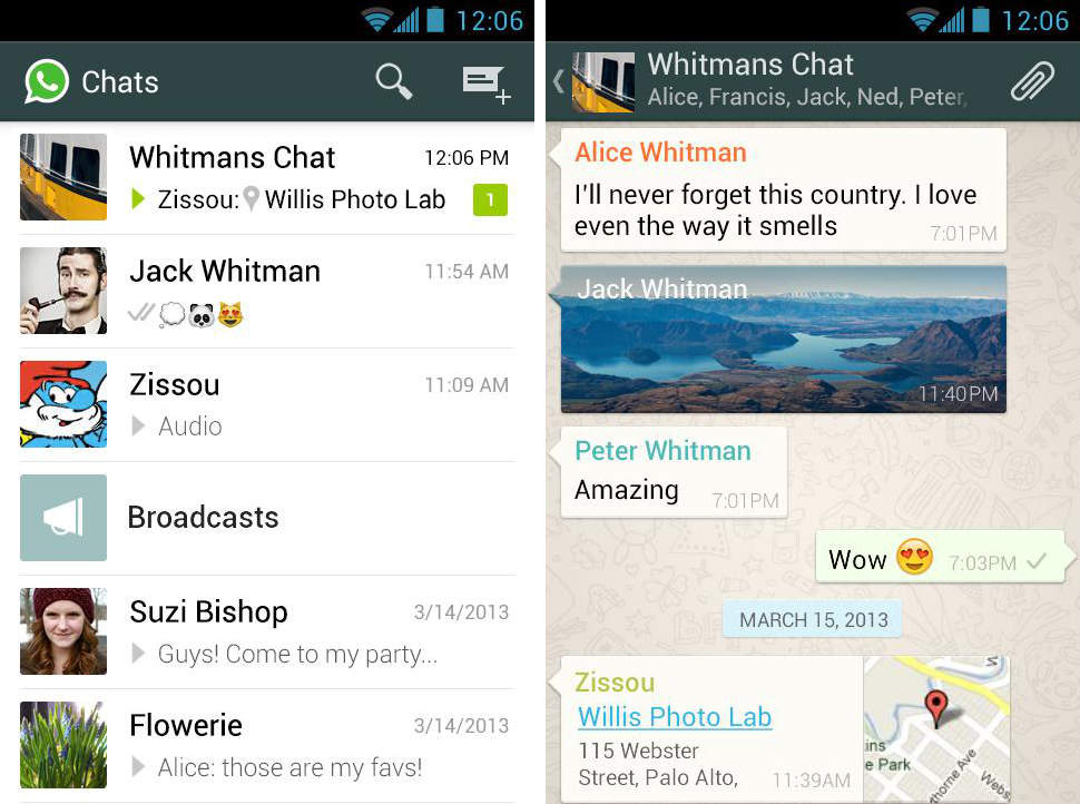 Беседа в Whatsapp