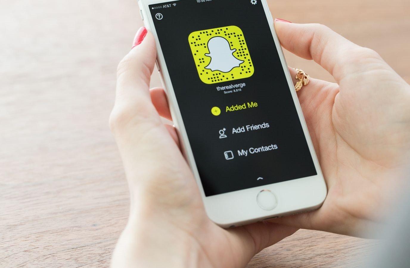 Snapchat на смартфоне