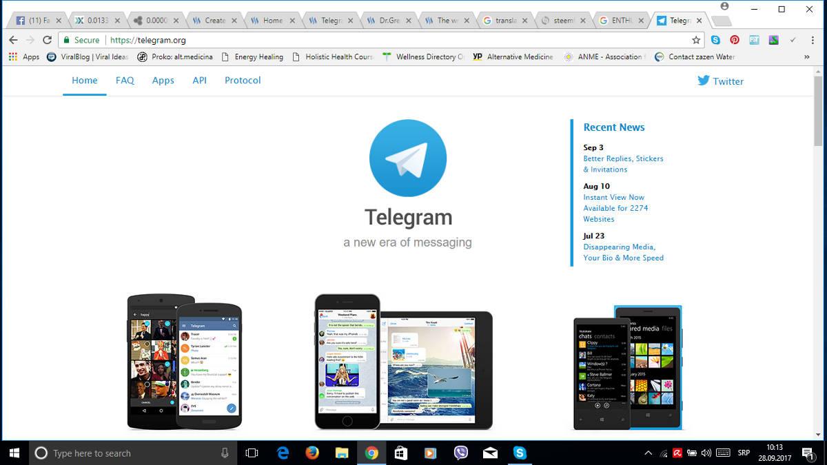 Установка Telegram