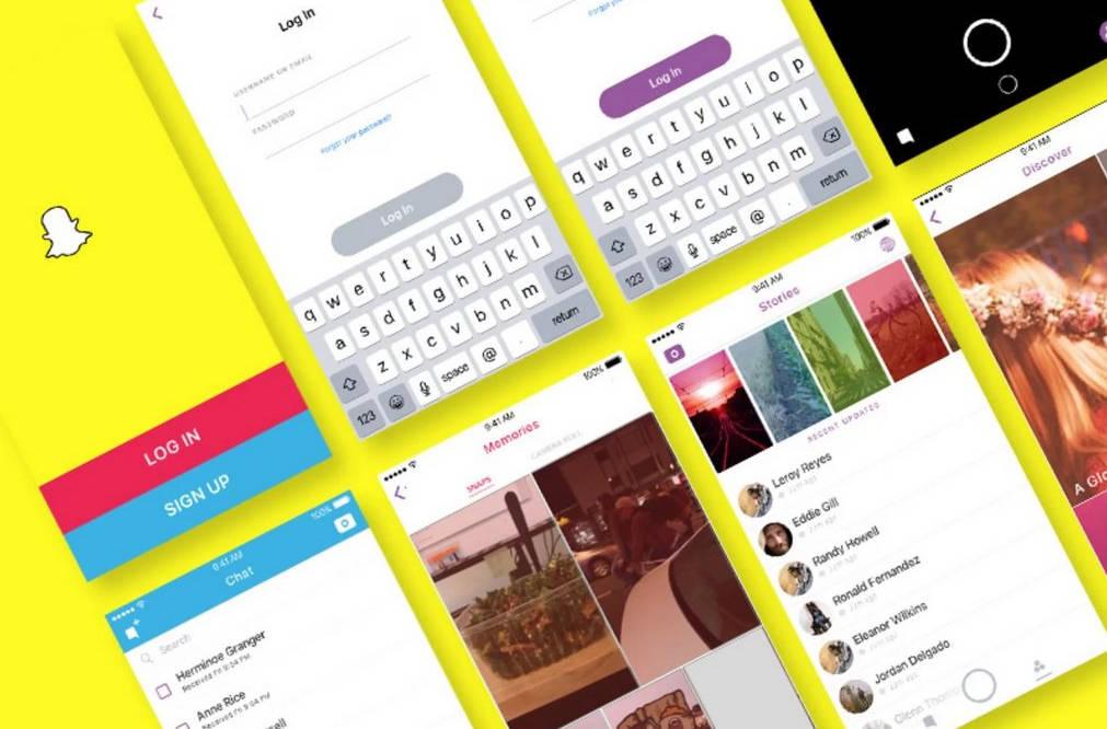 Экраны Snapchat