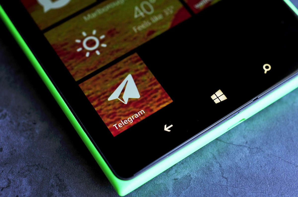Иконка Telegram на Windows Phone