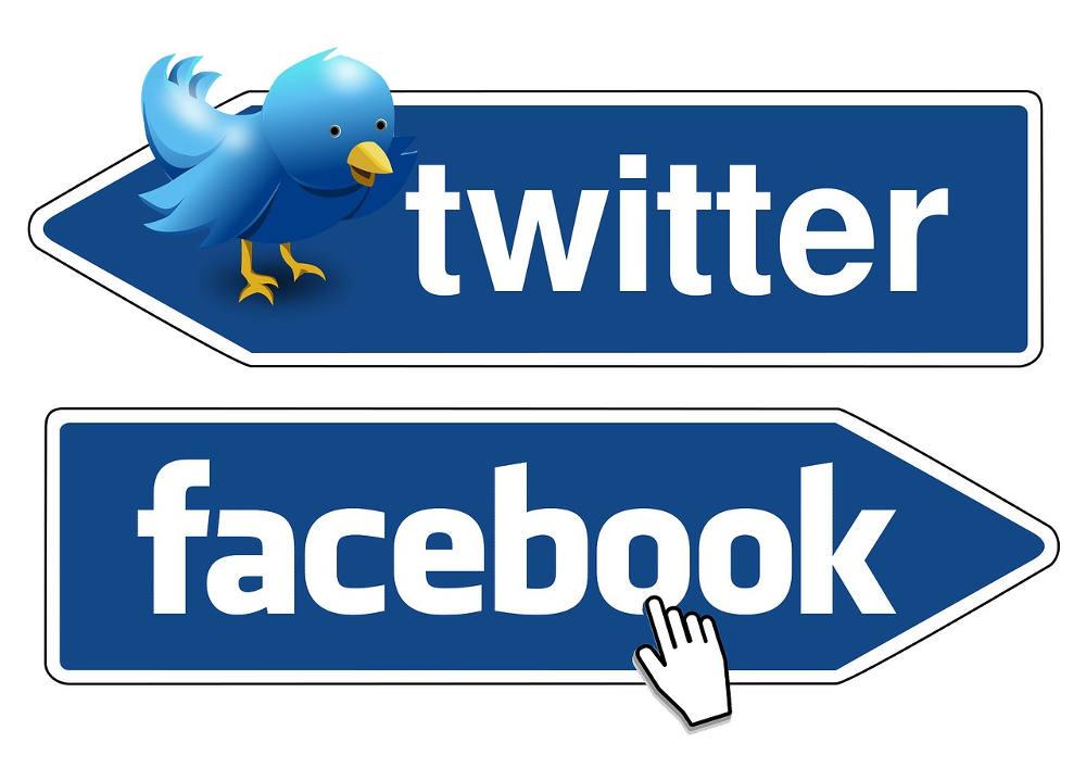 Иллюстрация на тему Сравнение двух социальных сетей Твиттер и Фейсбук: что лучше