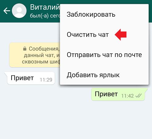 Иллюстрация на тему Как удалить чат в WhatsApp: процедура удаления или очистки беседы