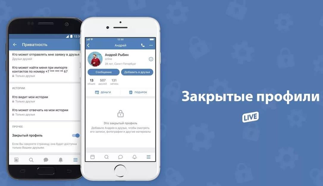 Иллюстрация на тему Как посмотреть закрытый профиль в ВК: сервисы, через общих друзей